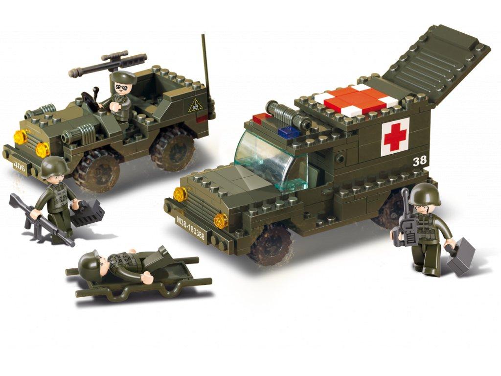 Sluban Army M38-B6000 Sanitka a džíp