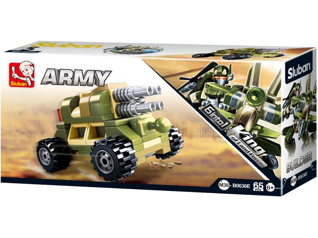 Sluban Builder M38-B0636E Dělostřelec King of Land Force 6 into 1