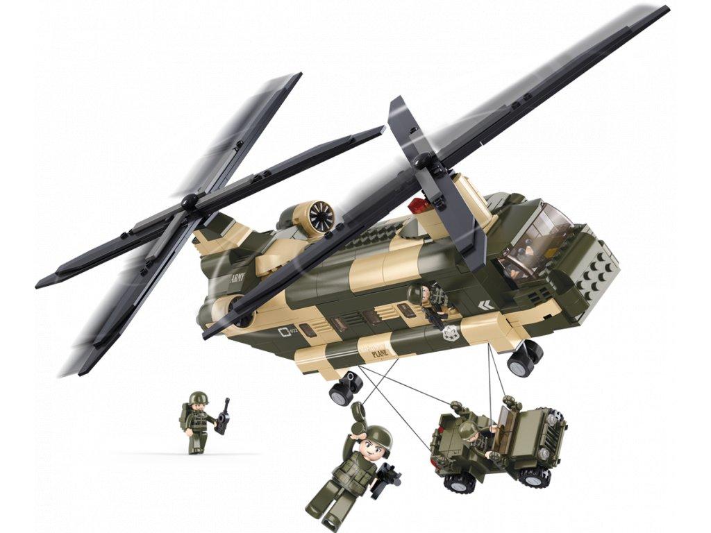 Sluban Army M38-B0508 Chinook Transportní helikoptéra