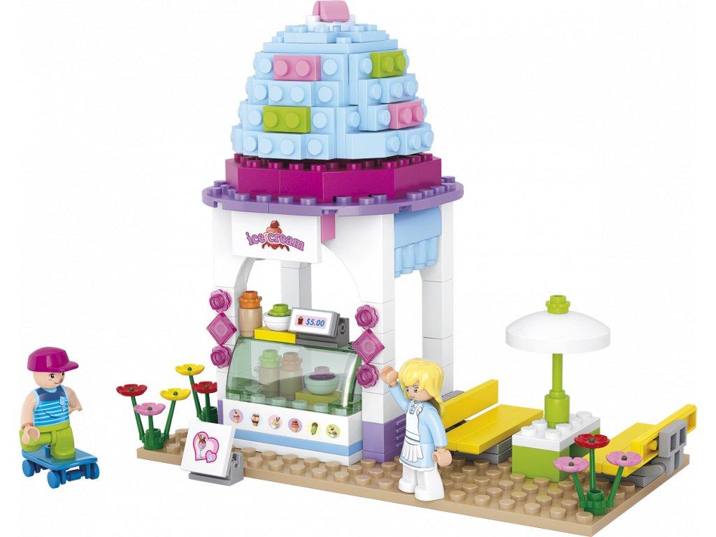 Sluban Girls Dream Town M38-B0525 Zmrzlinový krámek