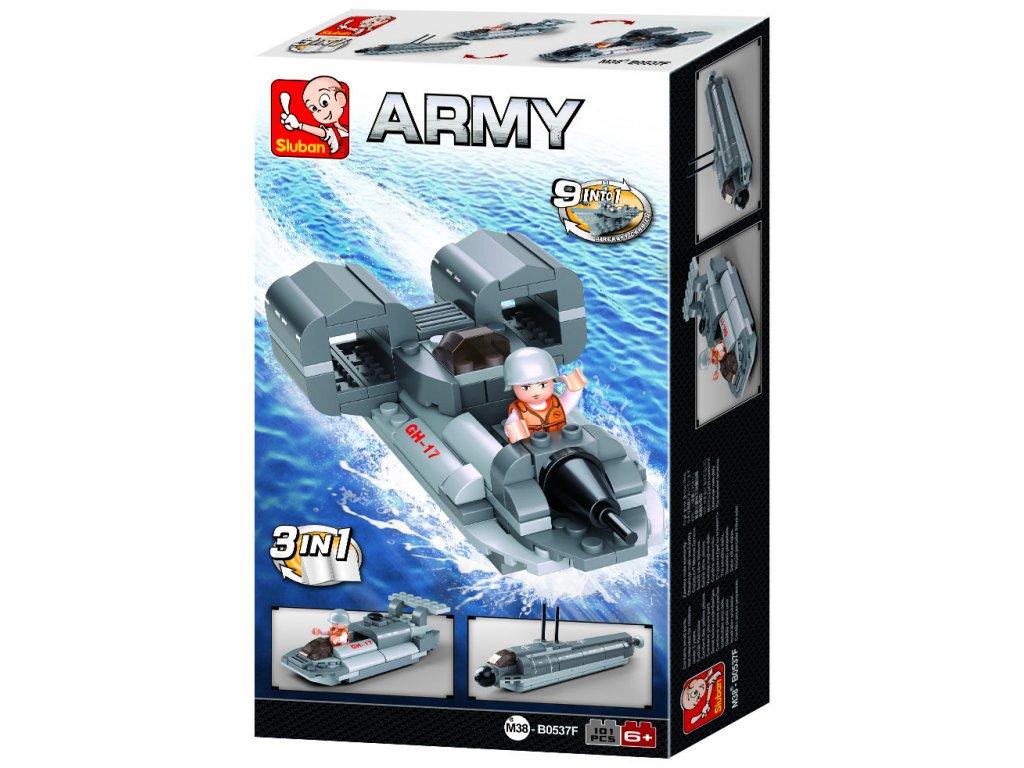 Sluban Army Creator M38-B0537F Tryskový člun 3v1