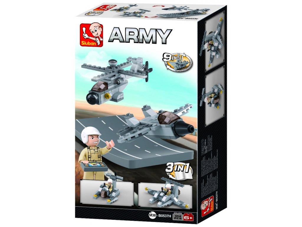 Sluban Army Creator M38-B0537H Army drony 3v1