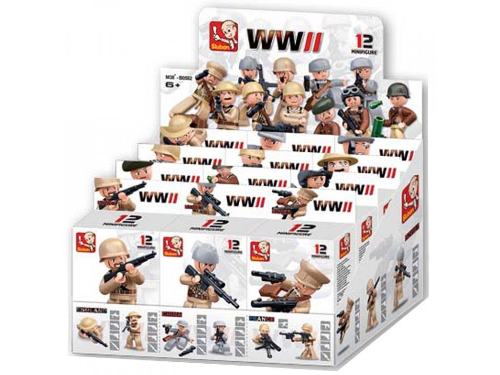 Sluban ARMY Figurky M38-B0582 / WW2 12ks v krabičkách