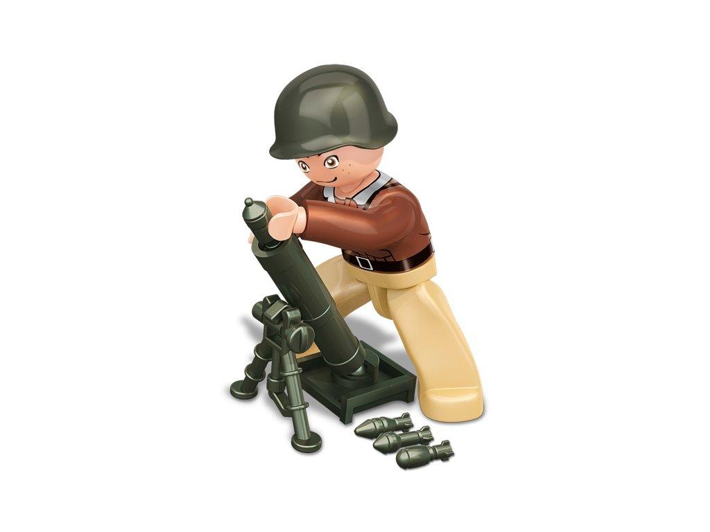 Sluban ARMY Figurky M38-B0582E WW2 Americký voják