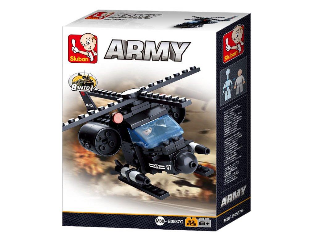 Sluban ARMY 8into1 M38-B0587G Helikoptera