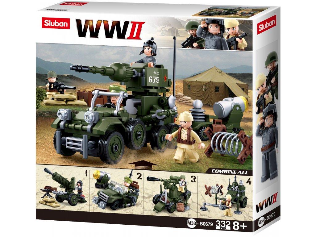 Sluban WWII M38-B0679  4into1 Sovětský dělostřelecký tahač