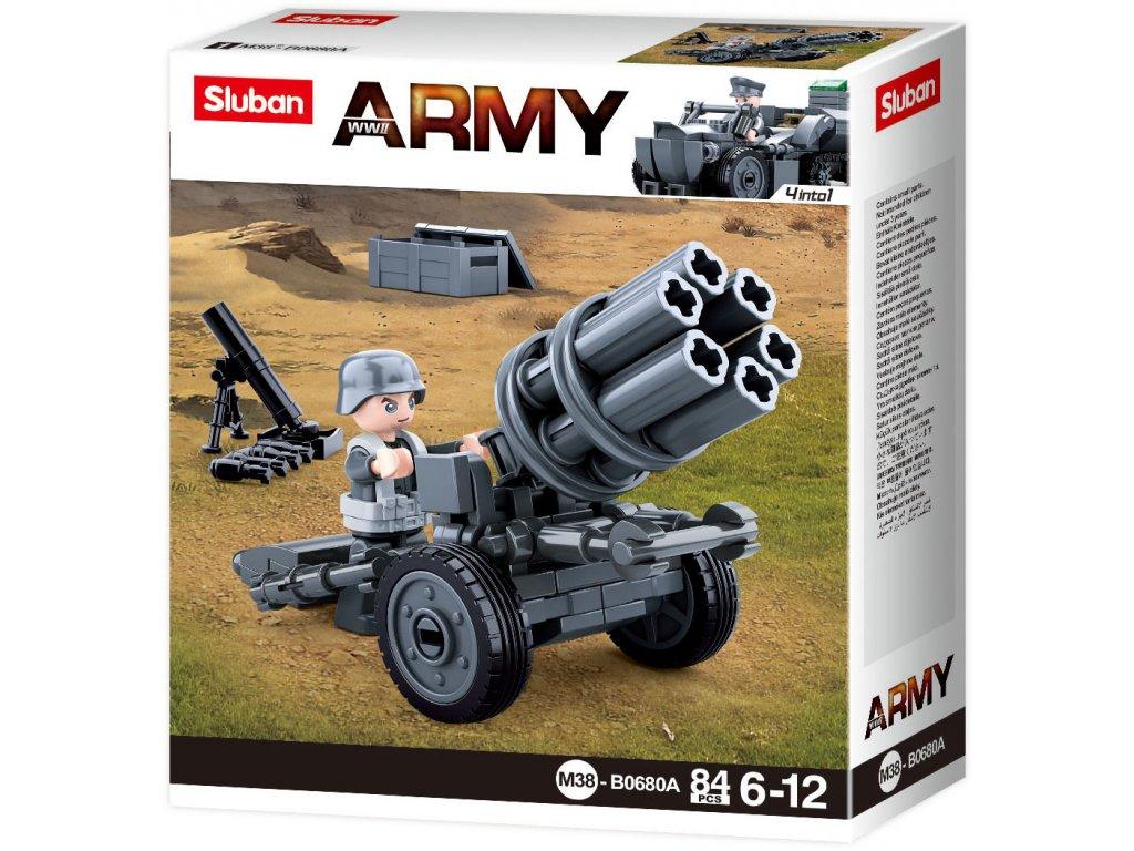 Sluban Army WW2 4into 1 M38-B0680A Německý raketomet