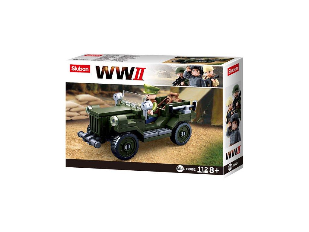 Sluban WWII M38-B0682 Sovětský terénní vůz GAZ 67