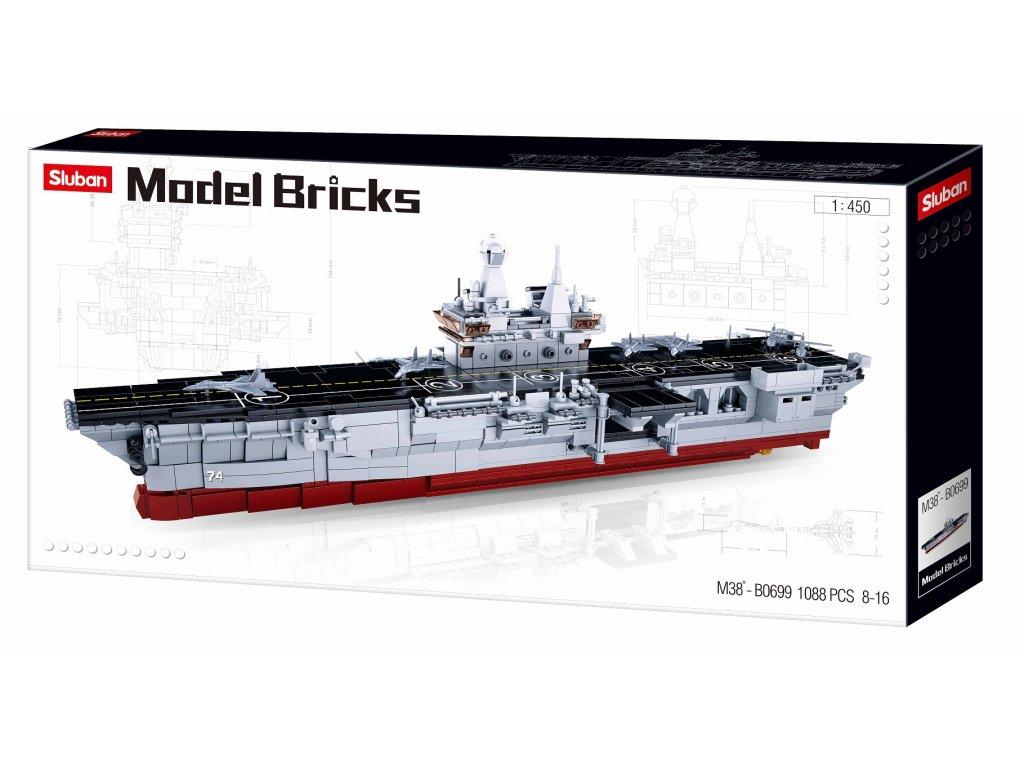 Sluban Model Bricks M38-B0699 Vrtulníková výsadková loď 1:450