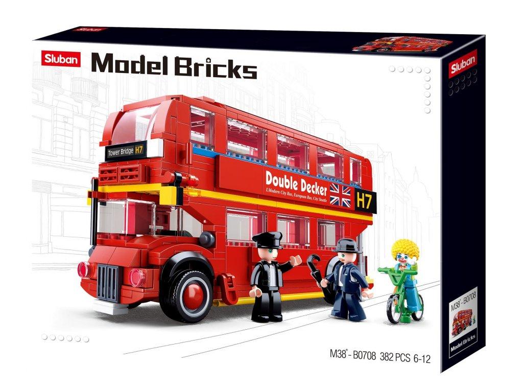 Sluban Model Bricks M38-B0708 Double Decker