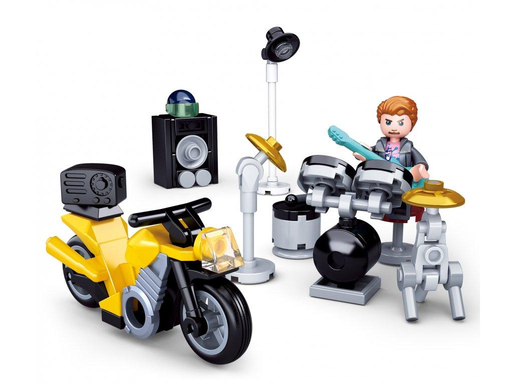 Sluban Town Motorky M38-B0717B Bubeník na motorce