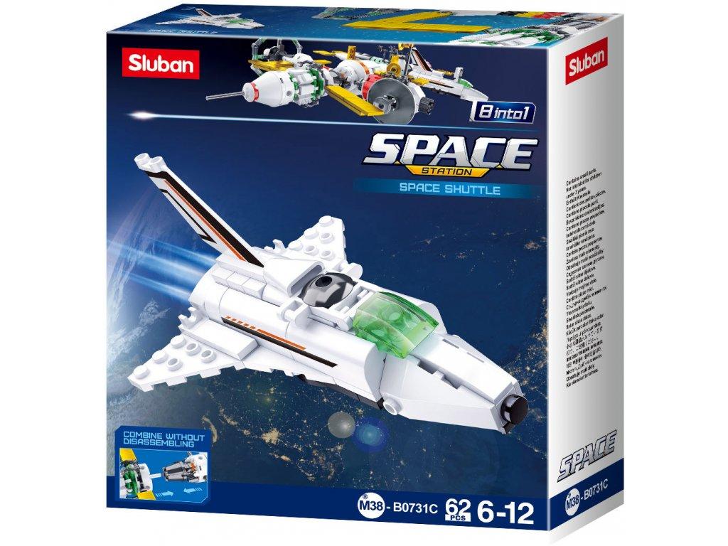 Sluban Space 8into1 M38-B0731C Satelitní Raketoplán C