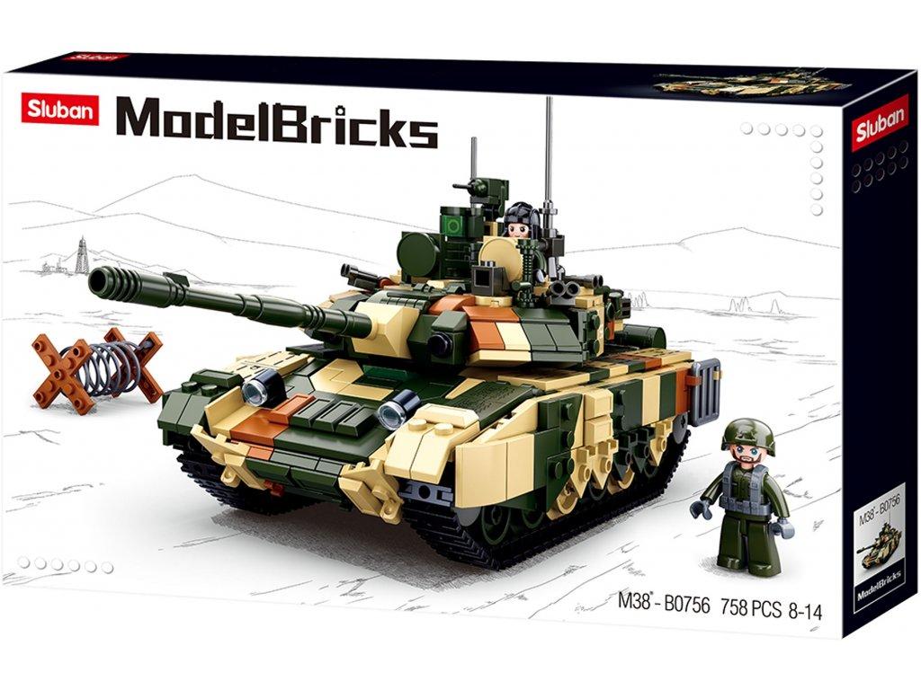 Sluban Army Model Bricks M38-B0756 Velký bitevmí tank
