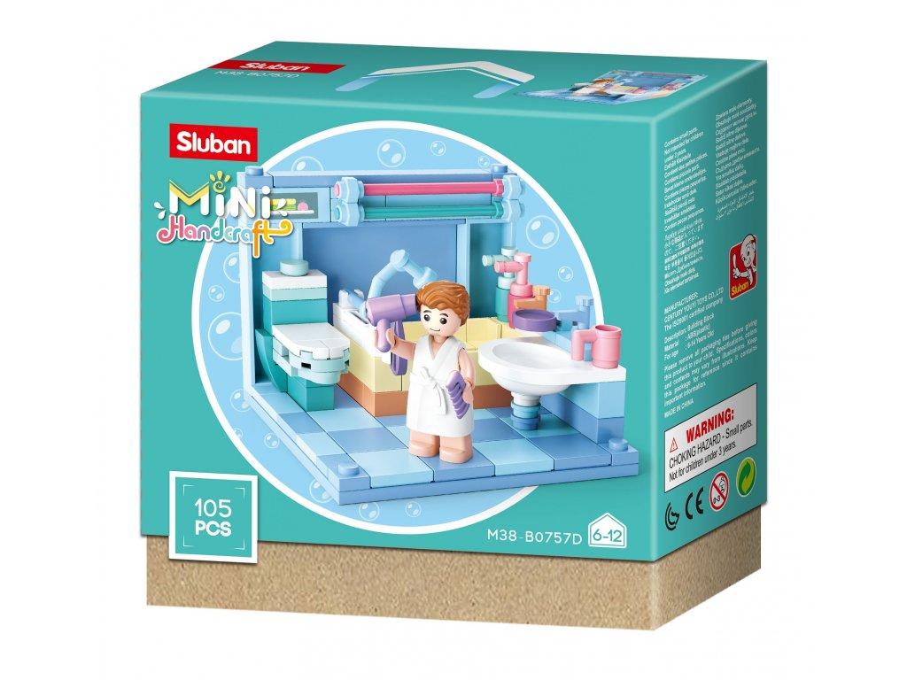 Sluban Mini pokojíčky M38-B0757D Koupelna