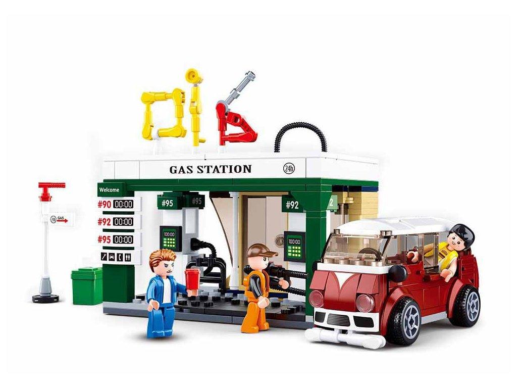Sluban Town M38-B0759B Benzínová stanice