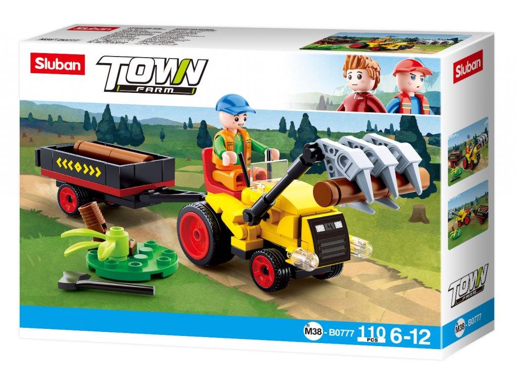 Sluban Town Farma M38-B0777 Traktůrek s přívěsem