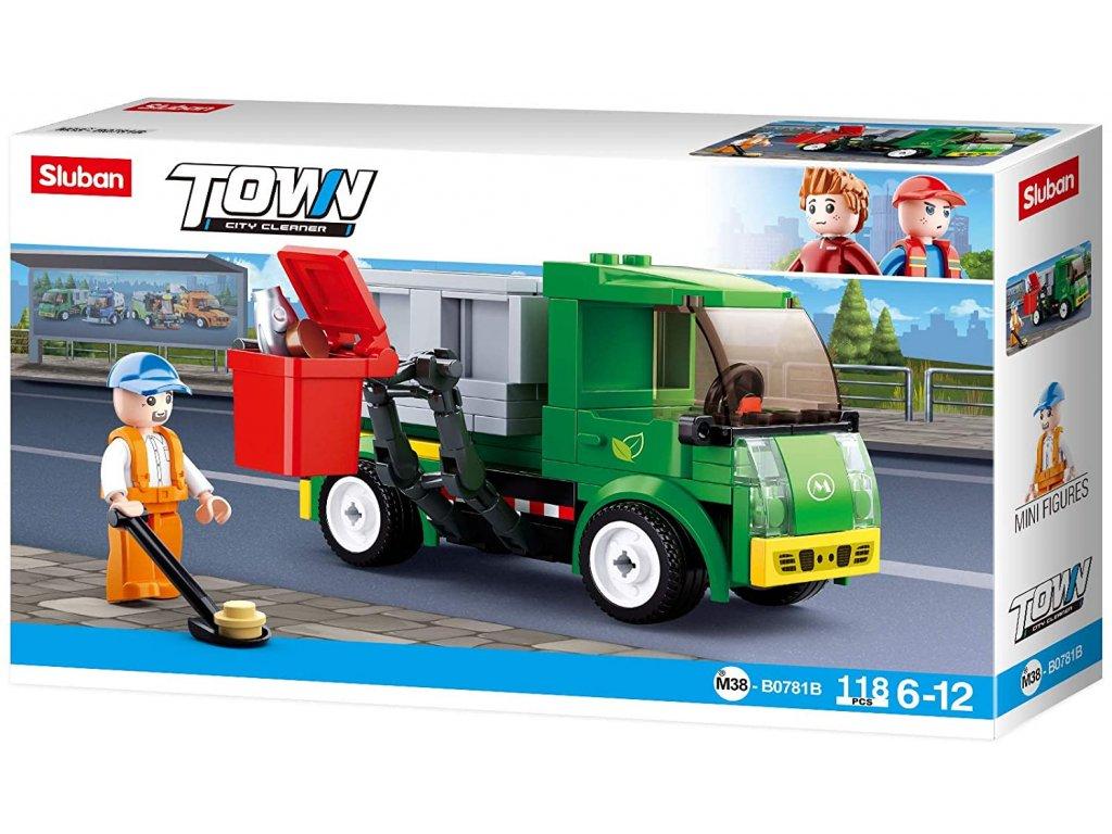 Sluban Town M38-B0781B Popelářský vůz