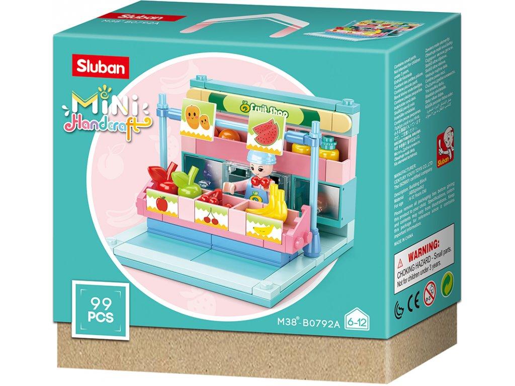 Sluban Mini Handcraft M38-B0792A Prodejní stánek s ovocem