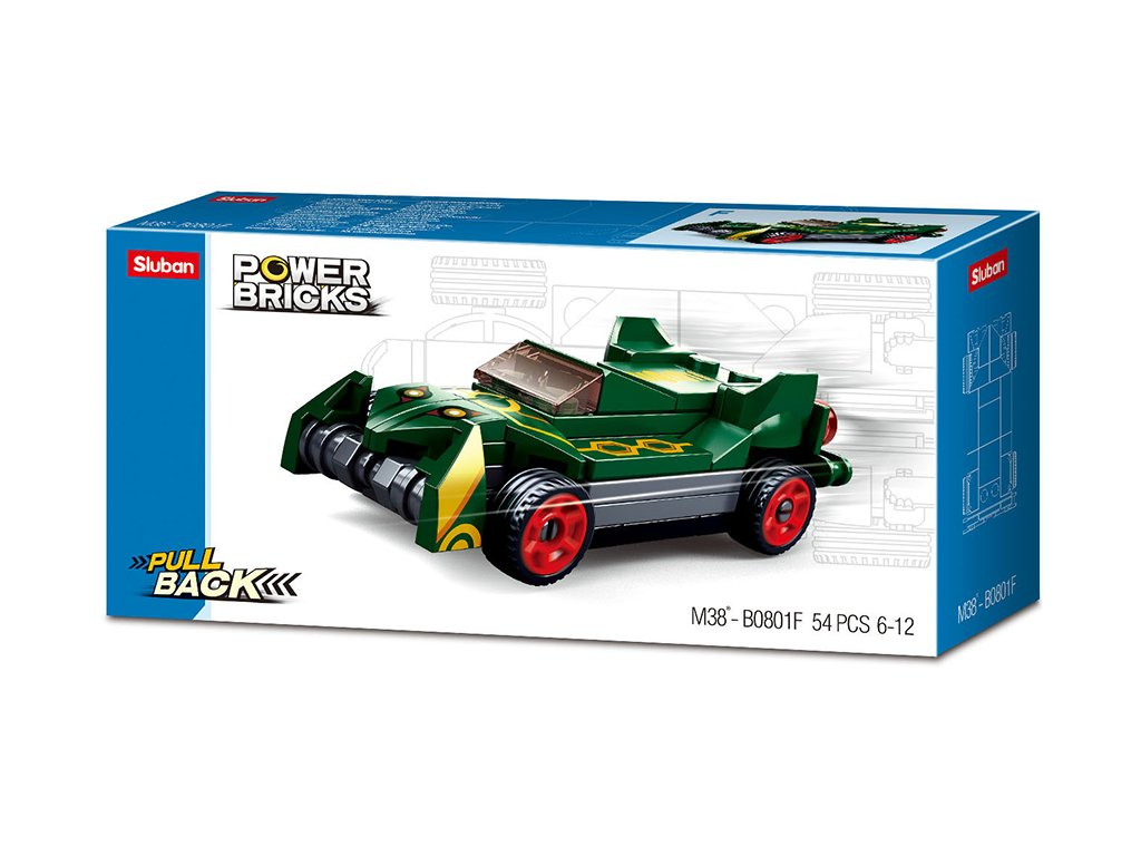 Sluban Power M38-B0801F Natahovací auto Zelený smyk