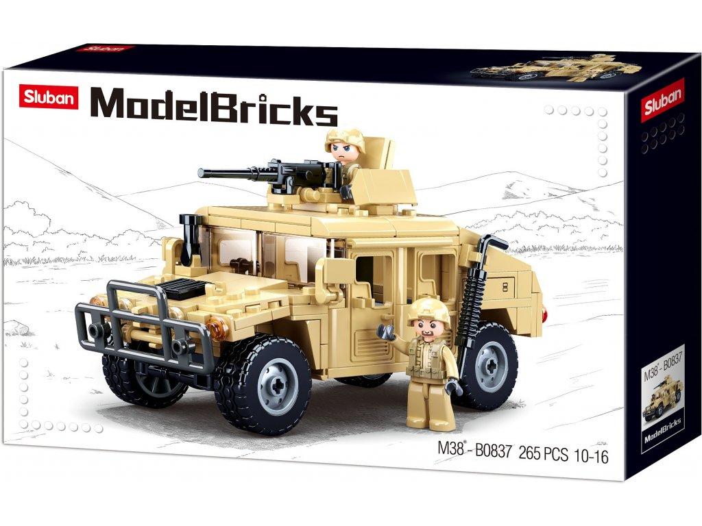 Sluban Army Model Bricks M38-B0837 Bojový Off road