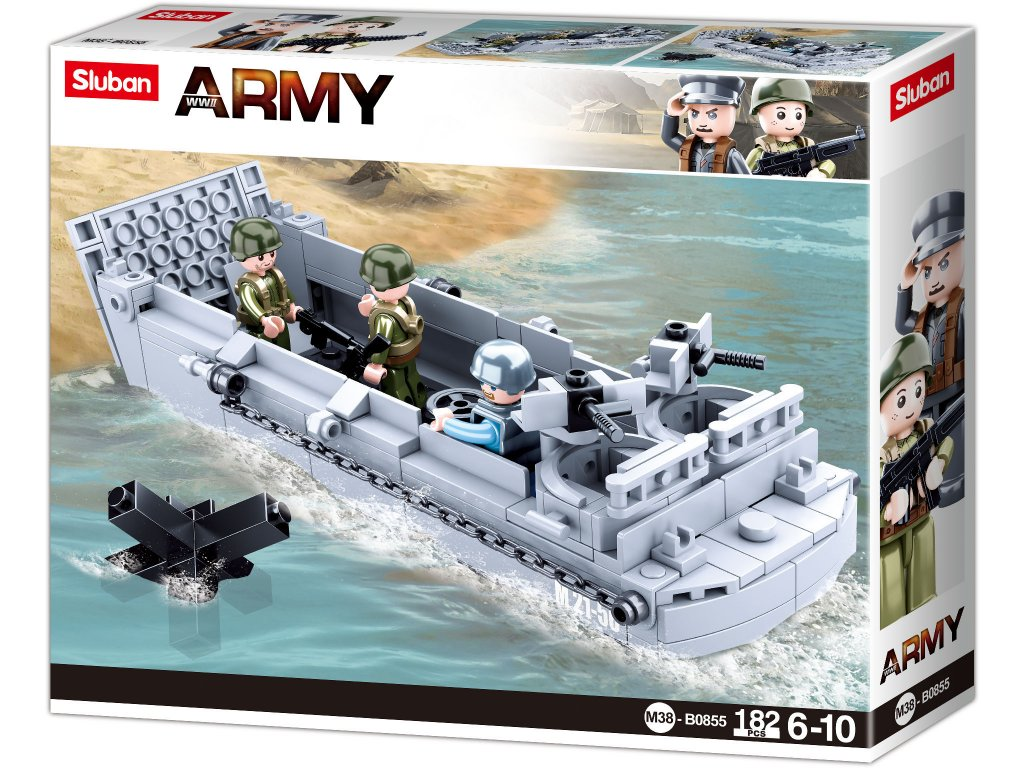 Sluban Army WW2 M38-B0855 Vyloďovací člun
