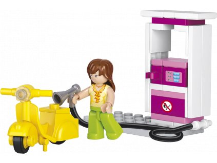 Sluban Girls Dream Town M38-B0518 Benzínka se skútrem