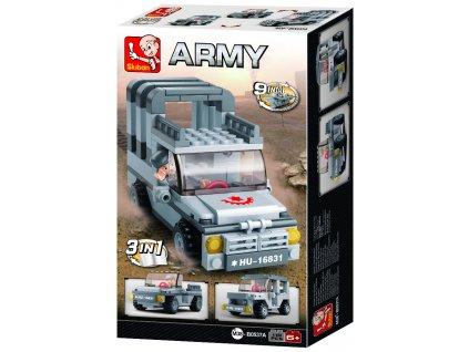 Sluban Army 9into1 M38-B0537A Jeep 3v1