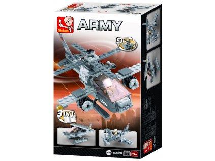 Sluban Army Creator M38-B0537G Útočná helikoptera 3v1