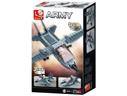 Sluban Army Creator M38-B0537I Stíhačka 3v1