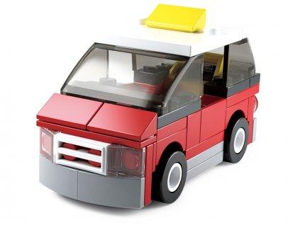 Sluban Builder M38-B0598C - Taxi červený