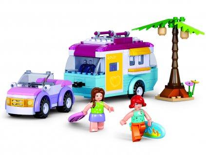 Sluban Girls Dream Holidays M38-B0606 Auto s karavanem