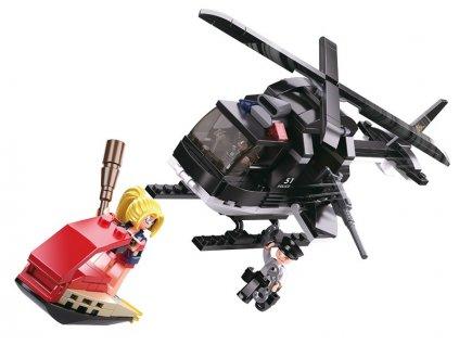 Sluban Policie M38-B0651 Helikoptéra a zlodějka na skútru