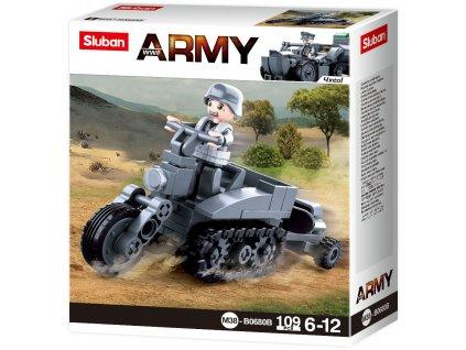 Sluban Army WW2 4into 1 M38-B0680B Německý pásový motocykl