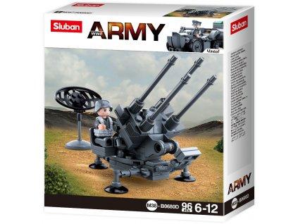 Sluban Army WW2 4into 1 M38-B0680D Německé protiletadlové dělo (ADA)