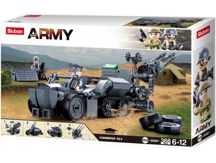 Sluban Army WW2 4into 1 M38-B0681 Německá mobilní protivzdušná jednotka