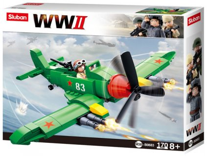 Sluban WWII M38-B0683 Sovětský stíhací letoun Iljušin II