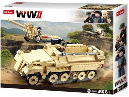 Sluban WWII M38-B0695 Německý polopásový tahač - Half Track