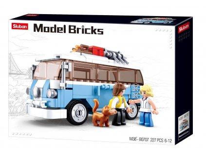 Sluban Model Bricks M38-B0707 Hippie autobus