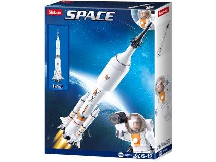 Sluban Space 2in1 M38-B0735 Raketa / Startovací rakety pro Raketoplán
