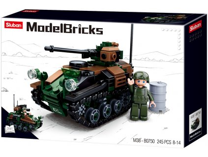Sluban Army Model Bricks M38-B0750 Malý tank 2v1