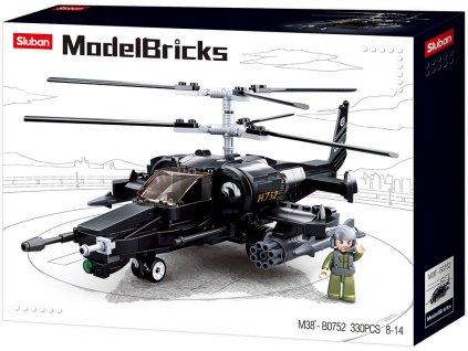 Sluban Army Model Bricks M38-B0752 Bojový vrtulník