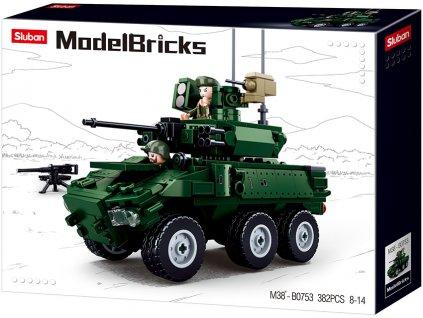 Sluban Army Model Bricks M38-B0753 Obrněné kolové bojové vozidlo 6x6