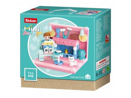 Sluban Mini pokojíčky M38-B0757B Obývací pokoj