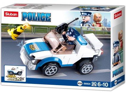 Sluban Policie M38-B0824 Natahovací auto policejní hlídky