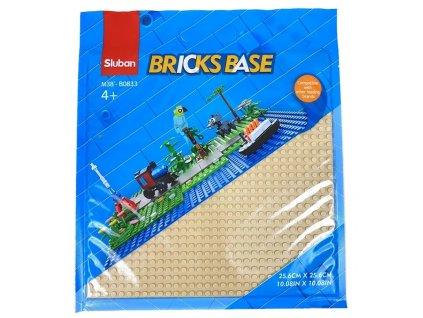 Sluban Bricks Base M38-B0833A Základní deska 25.6 x 25.6 cm béžová