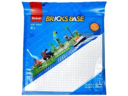 Sluban Bricks Base M38-B0833B Základní deska 25.6 x 25.6 cm bílá