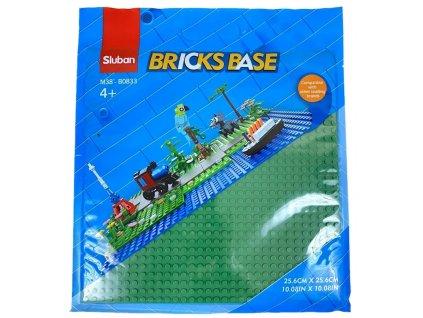 Sluban Bricks Base M38-B0833C Základní deska 25.6 x 25.6 cm zelená