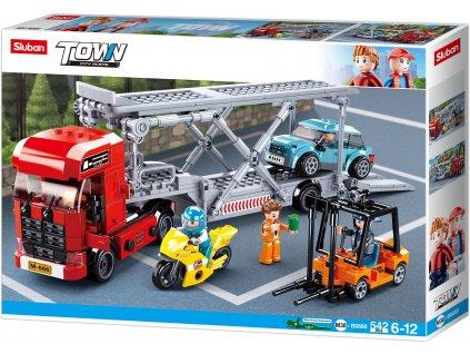 Sluban Town M38-B0880 Kamión pro přepravu aut