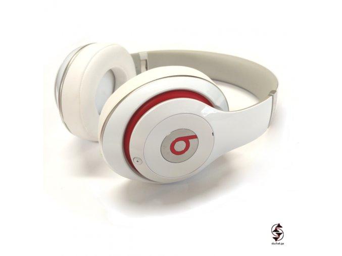 Kabelové sluchátka Beats Studio 2 - bílé - reálné foto