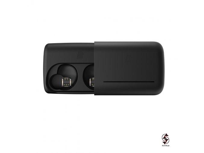 Dock nabíječka s baterií pro sluchátka Bragi The Dash v černé barvě